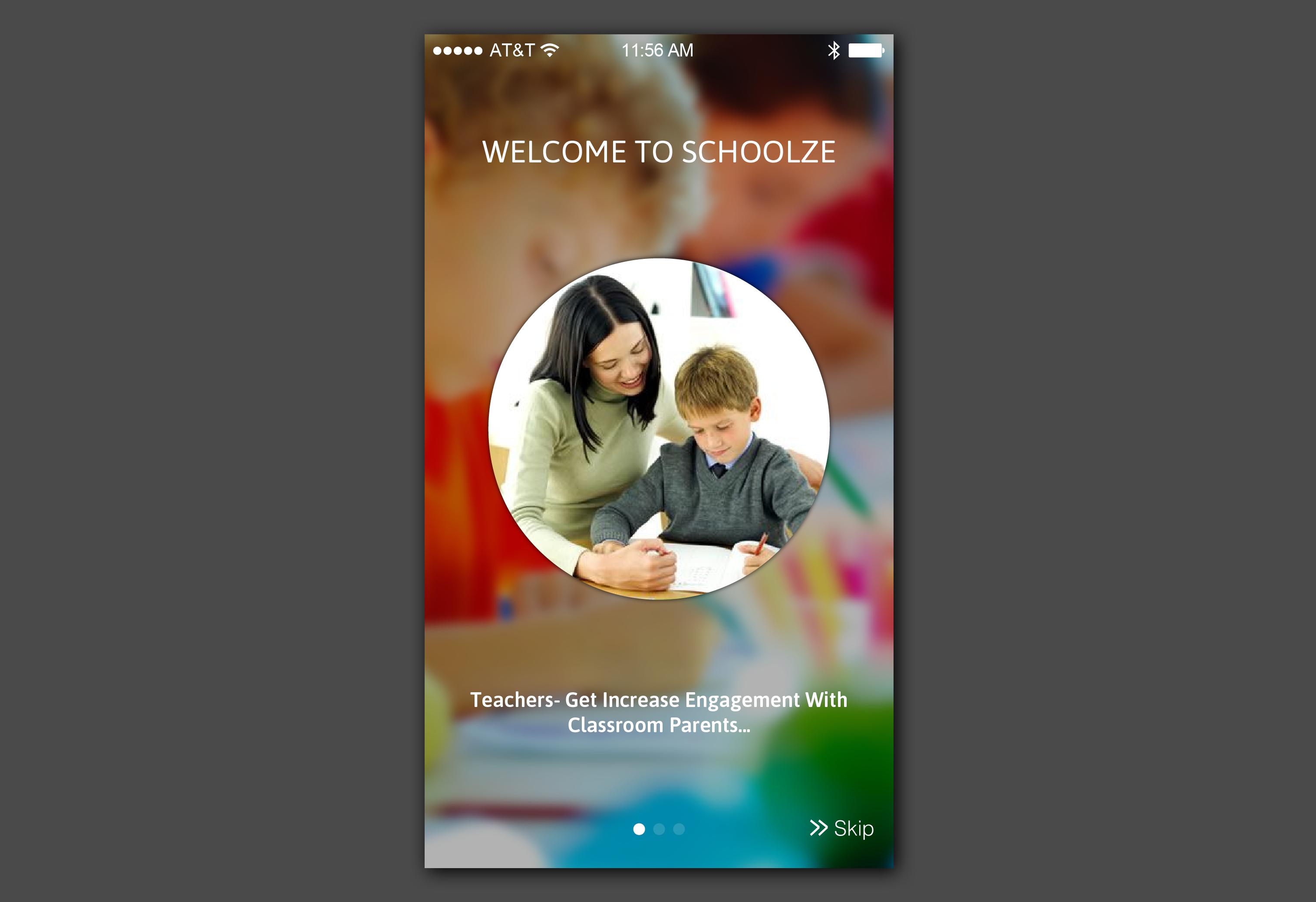 Schoolze App - Landing