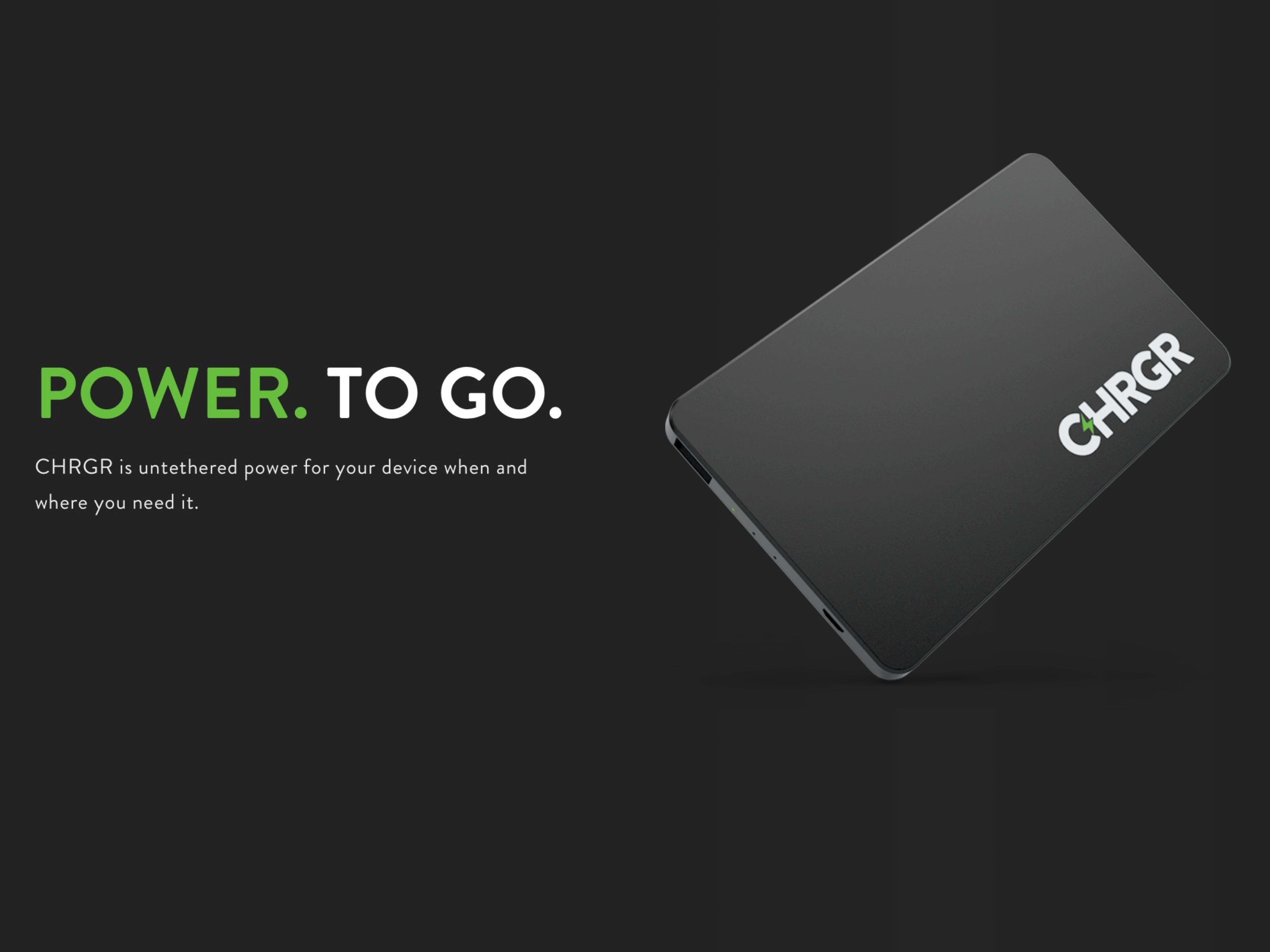 CHRGR - Power. To Go.