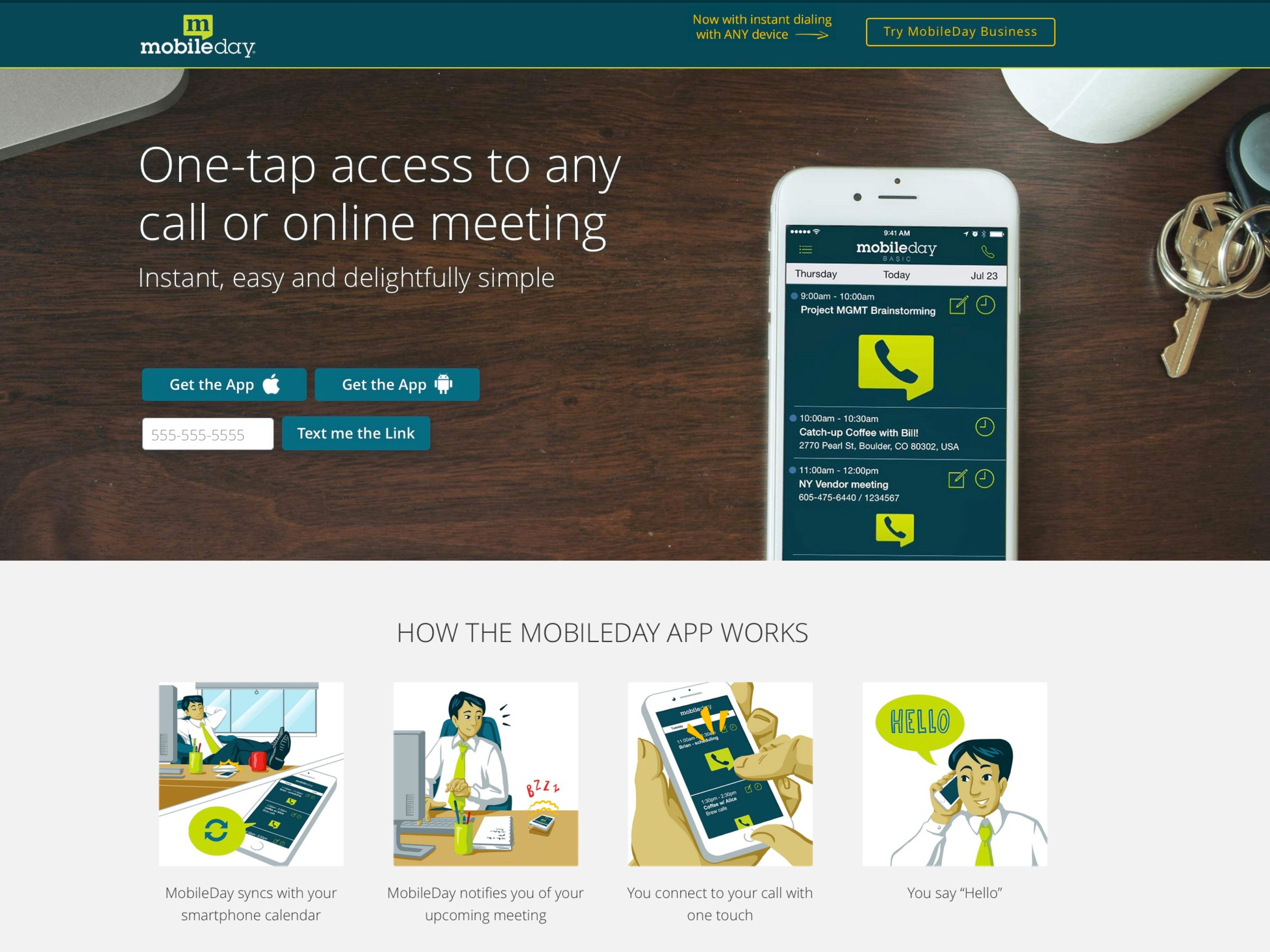 Mobileday -  One-tap access to any call or online meeting