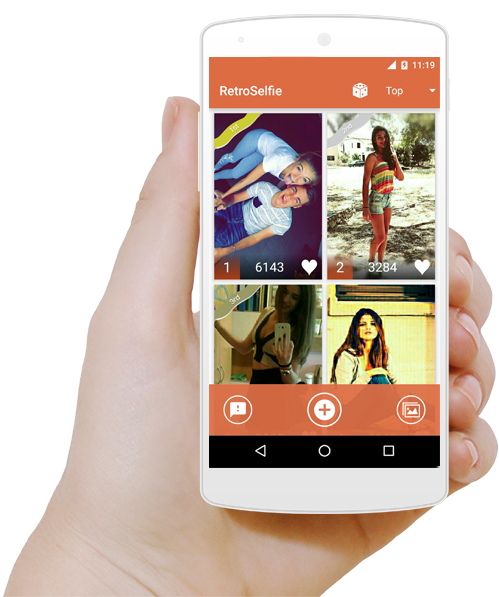 RetroSelfie - Become Famous with your amazing selfies.