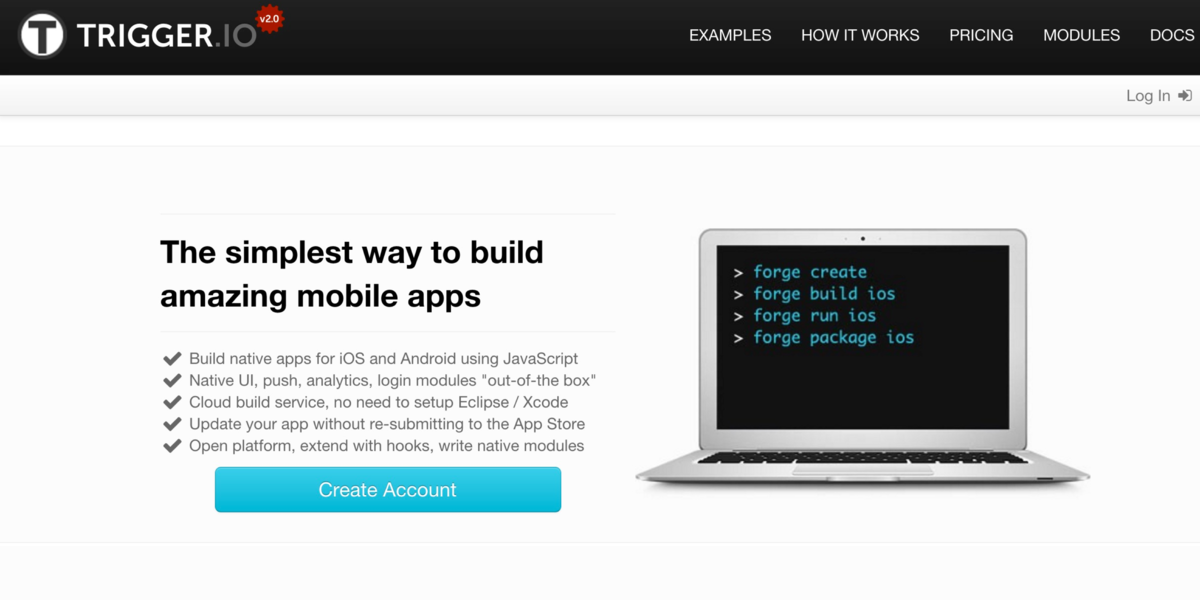 Trigger.IO - The Simplest Way to build amazing mobile apps
