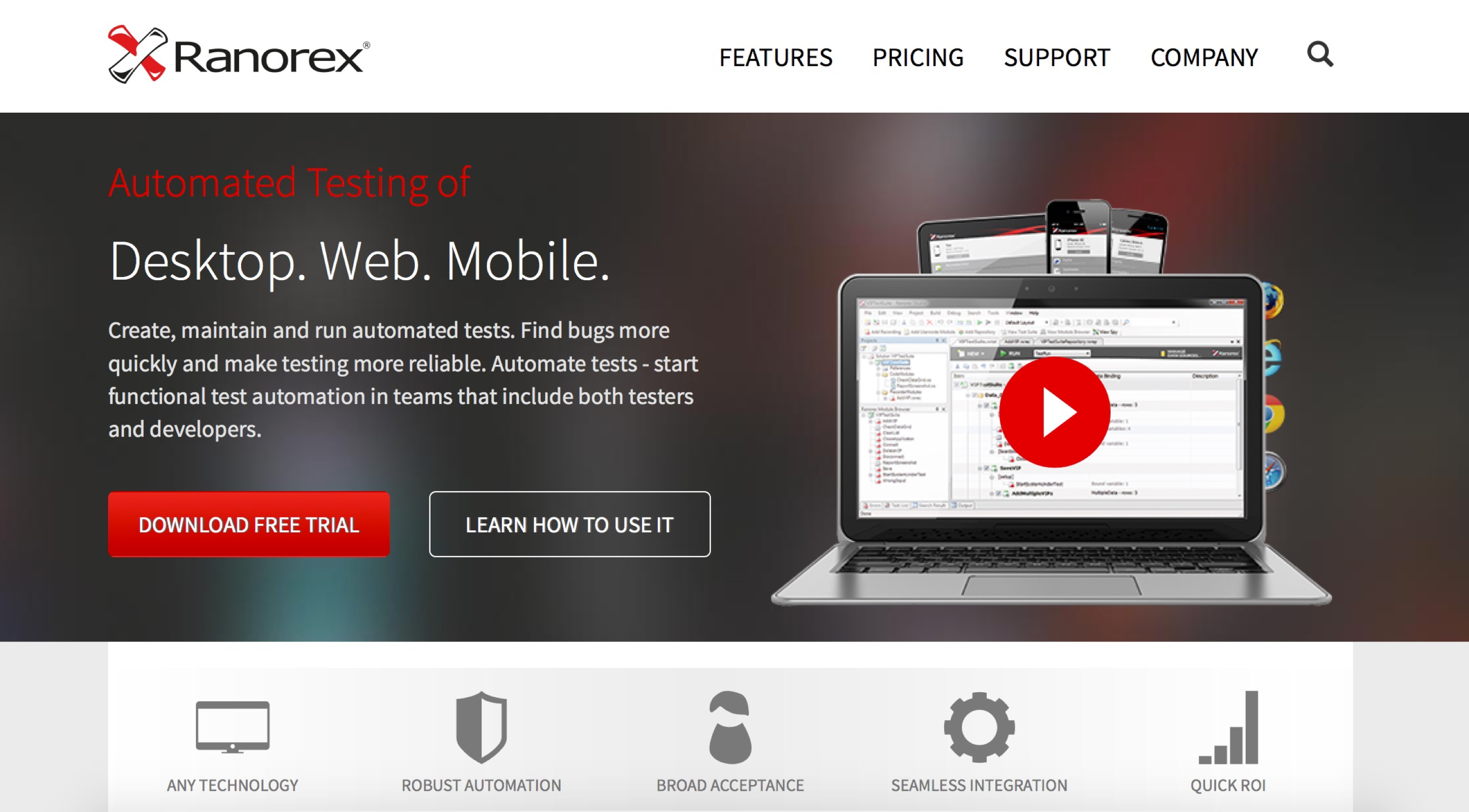Ranorex - Automated Testing of Desktop. Web. Mobile.